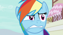 Rainbow Dash looking very distressed S7E18