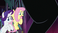 Rarity and Fluttershy avoid Cerberus' paw S8E25