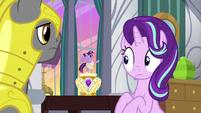 Starlight looks innocently at music box Twilight S7E10