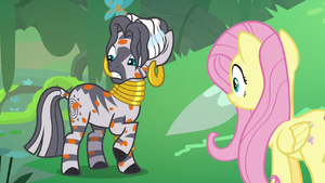 Zecora notices she's covered in orange spots S7E20.png
