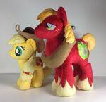 4DE Applejack and Big Mac plushes