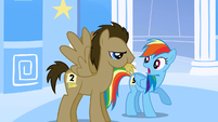 Dr. Hooves chewing hay S1E16