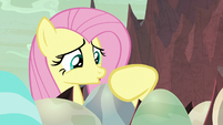 Fluttershy continues speaking in baby-talk S9E9