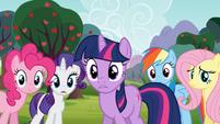 Main 5 concerned for Applejack and Spike S03E09