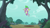 Spike flying with more confidence S8E11