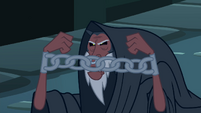 Tirek angry at Discord with chains on his hands S4E25