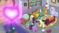 Twilight, Spike, and Young Six look at Fire of Friendship S8E16