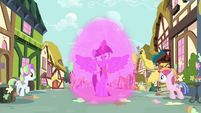 Twilight Sparkle projects a magical barrier S7E14