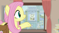 Fluttershy gestures to another book signing S9E21
