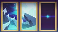 Moonlit forest graphics on DJ's projector CYOE12b