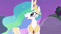 """Princess Celestia """"throw a party in the castle"""" S7E1"""