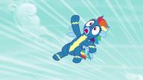Rainbow Dash flying helplessly upward S6E7