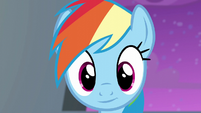 Rainbow Dash listening to Rarity S6E7