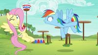 "Rainbow Dash shouts ""go!"" at Fluttershy S6E18"