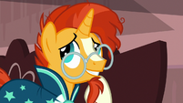 Sunburst looking embarrassed S7E24