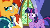 Twilight Sparkle worried about Sunburst S7E24