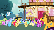 1000px-Ponyville Crowd Cheer S2E14
