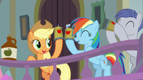 Applejack and Rainbow Dash sharing cider S8E2