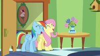 Fluttershy and Rainbow continue to sing S6E11