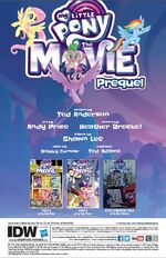 MLP The Movie Prequel issue 3 credits page