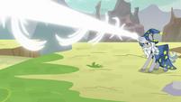 Star Swirl fires his magic on Lord Tirek S9E24