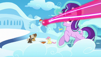 Starlight avoids magic beam; Rainbow gets hit by magic beam S5E26