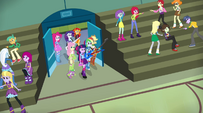 The Rainbooms enter the gymnasium EG2