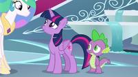 Twilight Sparkle turns to face Celestia S8E7
