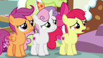 Apple Bloom apologizes to Big Mac and Sugar Belle S9E23