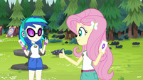 Fluttershy and DJ Pon-3 are tent buddies EG4