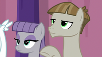 Maud and Mudbriar with blank stares S9E16