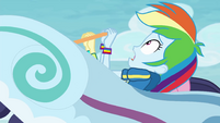 """Rainbow Dash """"safe to be this high up"""" EGROF"""