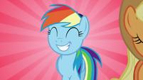 Rainbow Dash walking behind Applejack S7E2