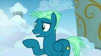 Sky Stinger addressing Twilight and Rainbow S6E24