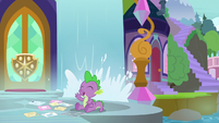 Spike calling out to Twilight Sparkle S9E5