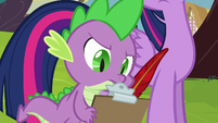 Spike taking notes S5E22