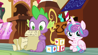 Flurry sees Pound and Pumpkin fighting S7E3