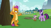 """Smolder """"teaching you to fly like a pony"""" S8E24"""