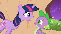 Twilight looking at Spike S2E20