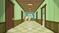 AJ, Big Mac, and Granny enter hospital from the back S6E23