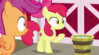 Apple Bloom and Scootaloo feel the ground shake S9E23