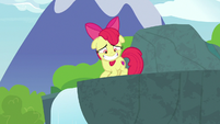 Apple Bloom grins in embarrassment S9E23