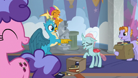 Gallus playing a practical joke on Ocellus S8E2