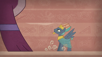 Prince Hisan confronting the sphinx S7E18