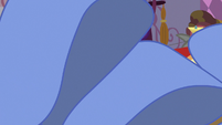 Rarity's fabric covering the screen S7E14