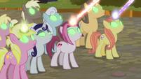 Sombrafied unicorns blast at Rainbow Dash S9E2