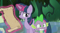 Spike smiling nervously S5E25