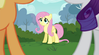 """Fluttershy """"quietly doesn't come naturally"""" S4E16"""