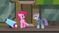 Pinkie Pie --you gave back the pouch for my cannon-- S6E3