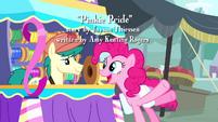 Pinkie Pie and streamer vendor pony S4E12